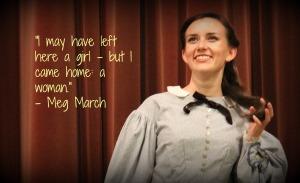 Lisa DelPadre as the romantic dreamer, Meg March.